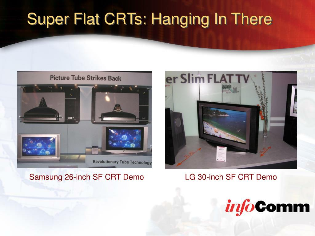 Super Flat CRTs: Hanging In There