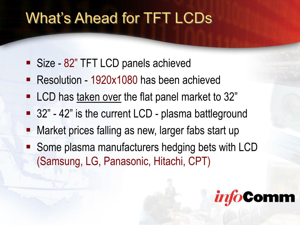 What's Ahead for TFT LCDs