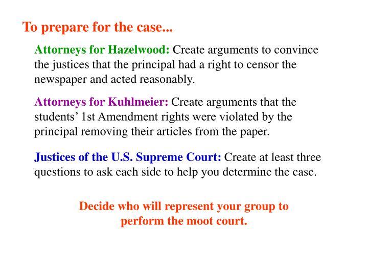 Talking Points - Hazelwood v. Kuhlmeier