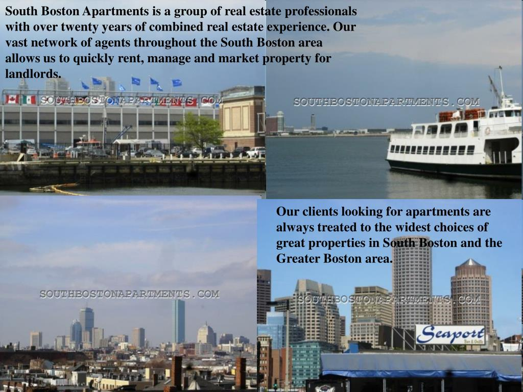 South Boston Apartments is a group of real estate professionals with over twenty years of combined real estate experience. Our vast network of agents throughout the South Boston area allows us to quickly rent, manage and market property for landlords.