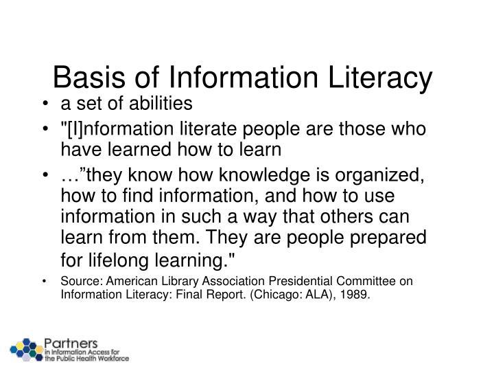 Basis of Information Literacy