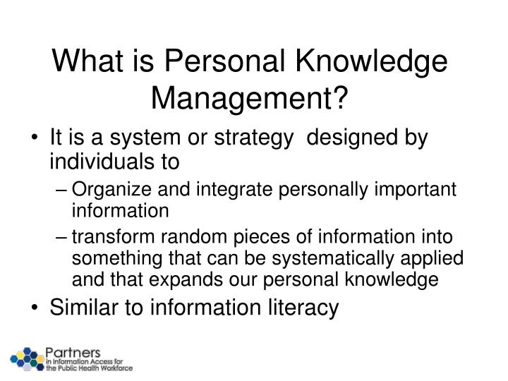 What is Personal Knowledge Management?