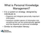 what is personal knowledge management