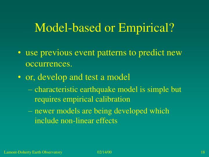 Model-based or Empirical?