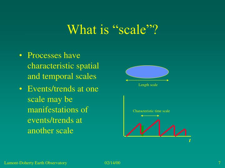 "What is ""scale""?"