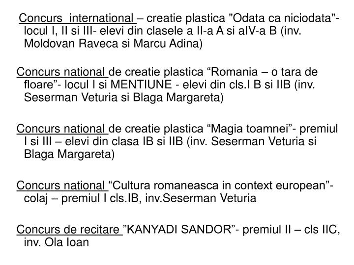Concurs  international