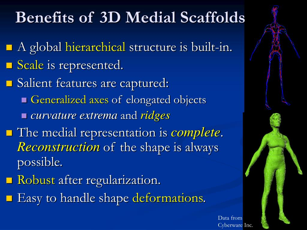 Benefits of 3D Medial Scaffolds