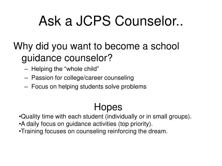 Ask a JCPS Counselor..