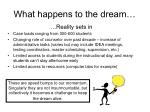 what happens to the dream