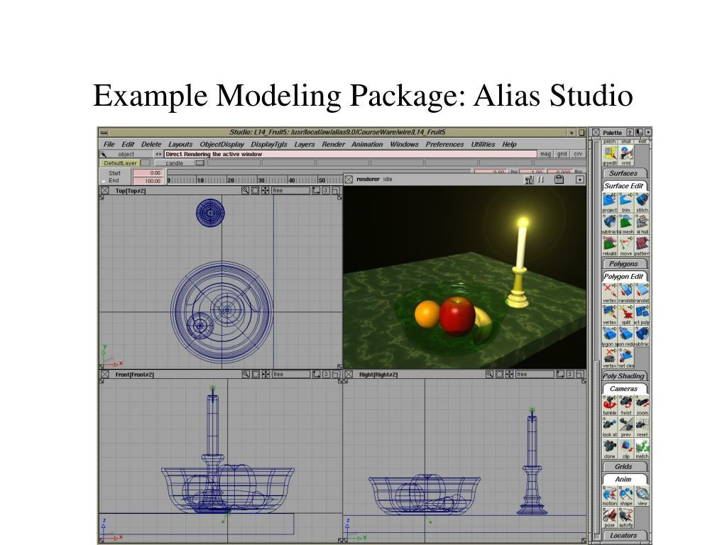 Example Modeling Package: Alias Studio