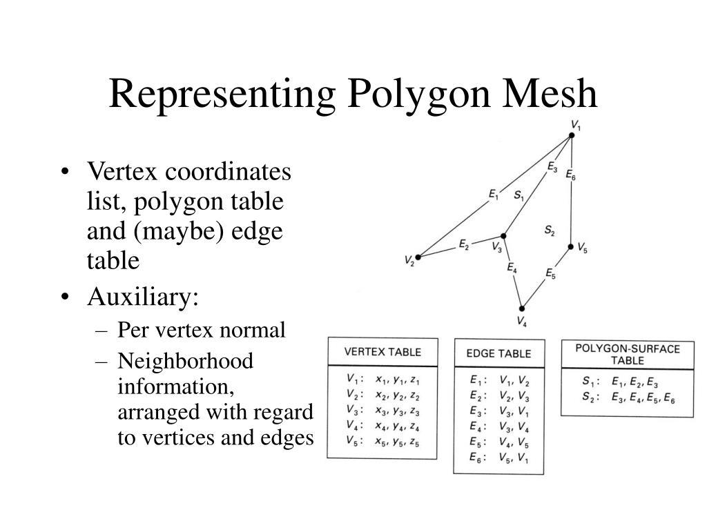 Representing Polygon Mesh