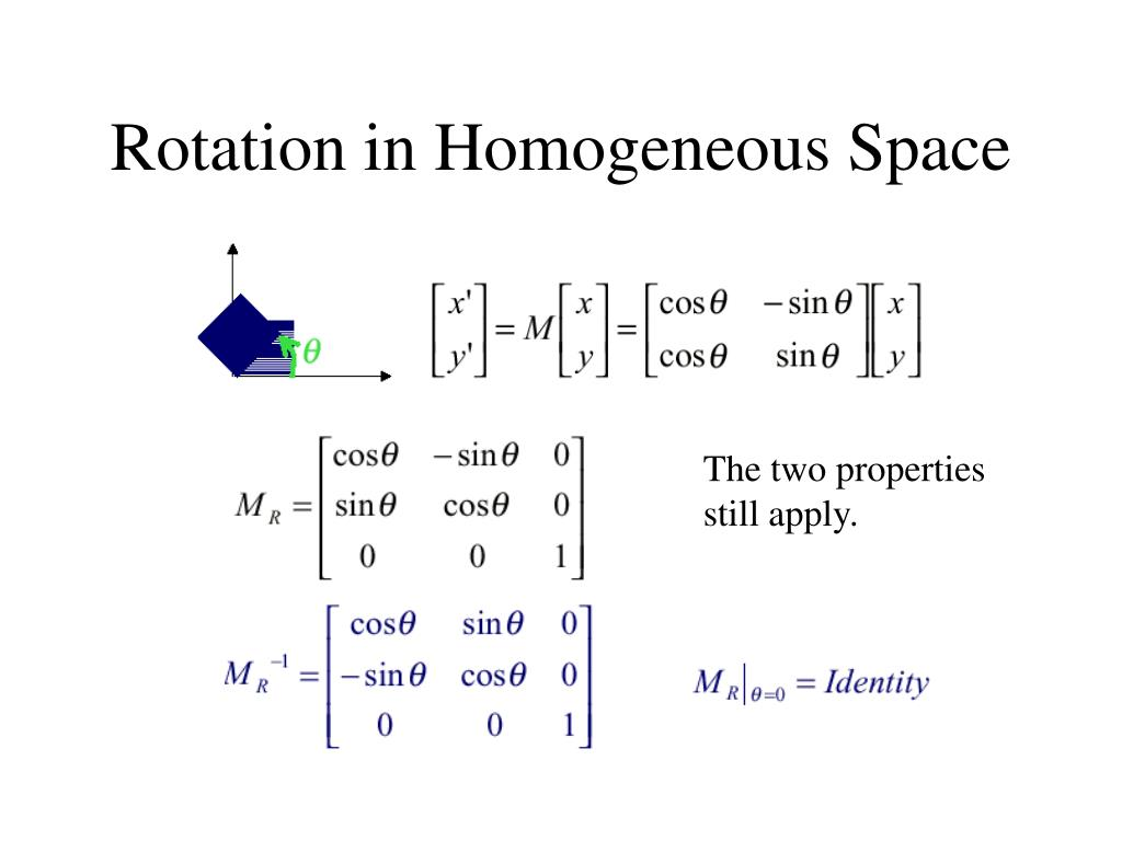 Rotation in Homogeneous Space