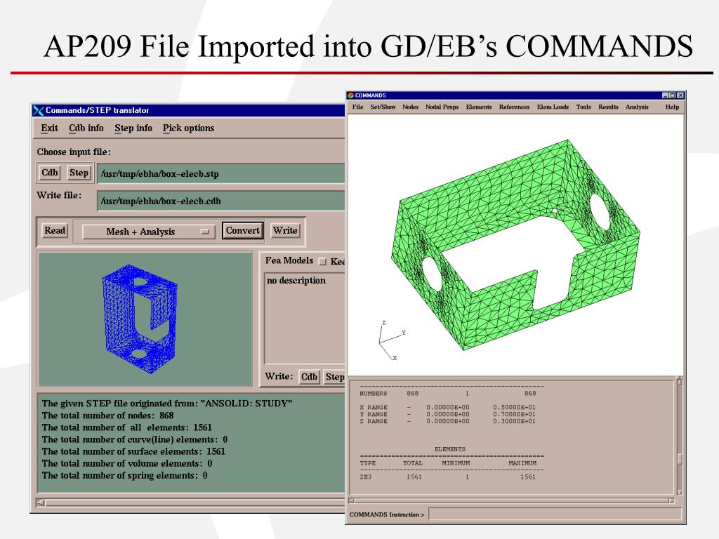 AP209 File Imported into GD/EB's COMMANDS
