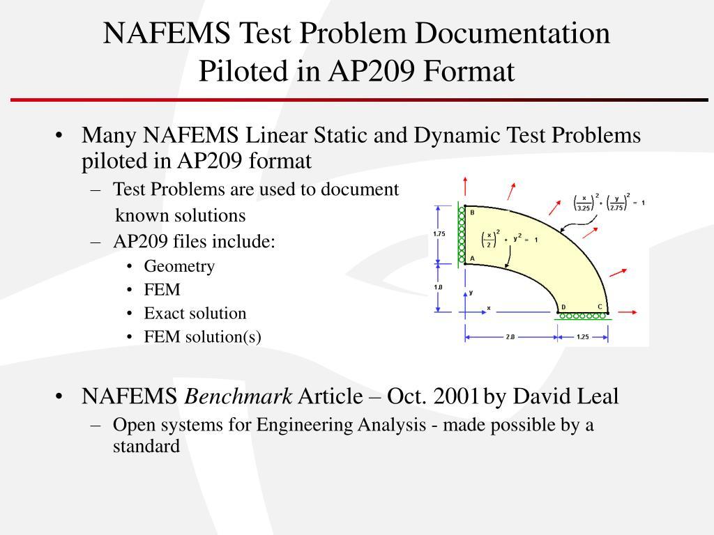 NAFEMS Test Problem Documentation