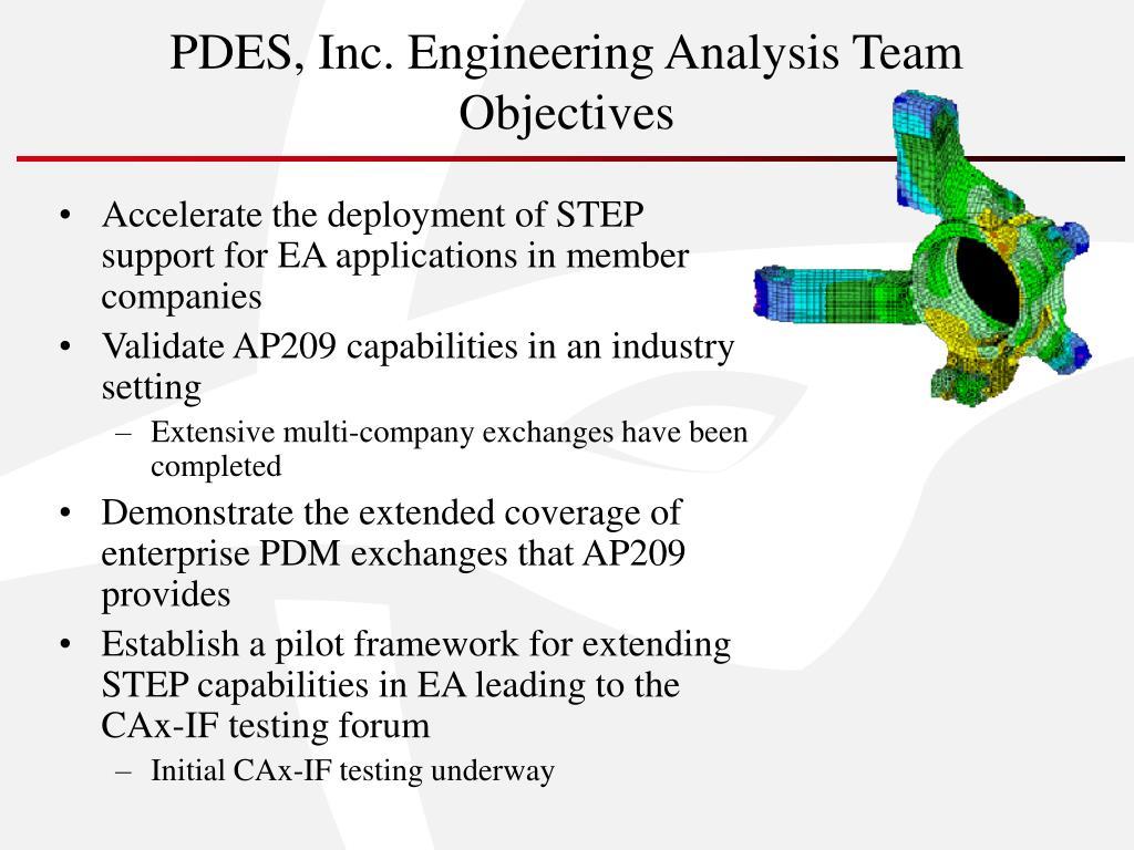 PDES, Inc. Engineering Analysis Team