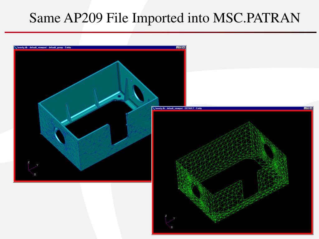 Same AP209 File Imported into MSC.PATRAN