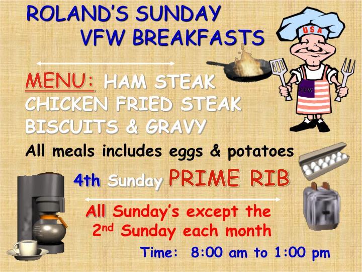 ROLAND'S SUNDAY