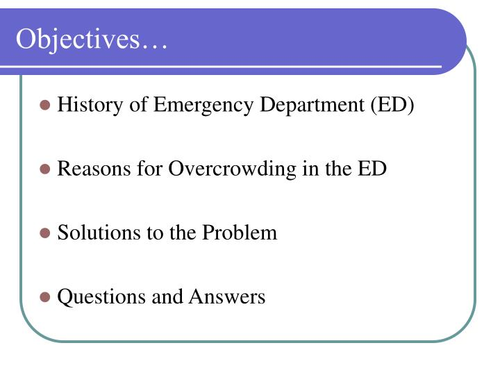 Objectives…