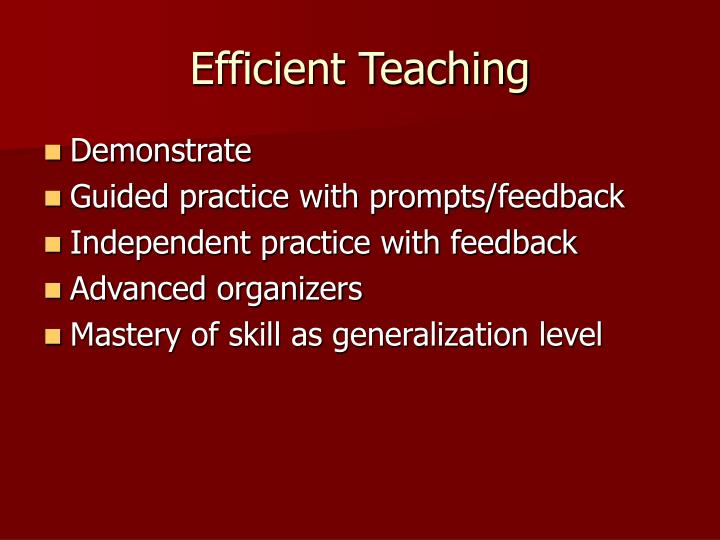 Efficient Teaching