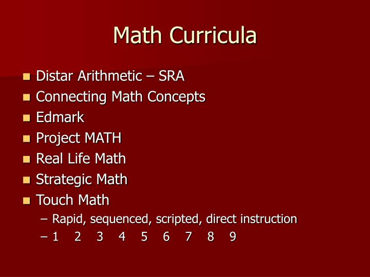 Math Curricula