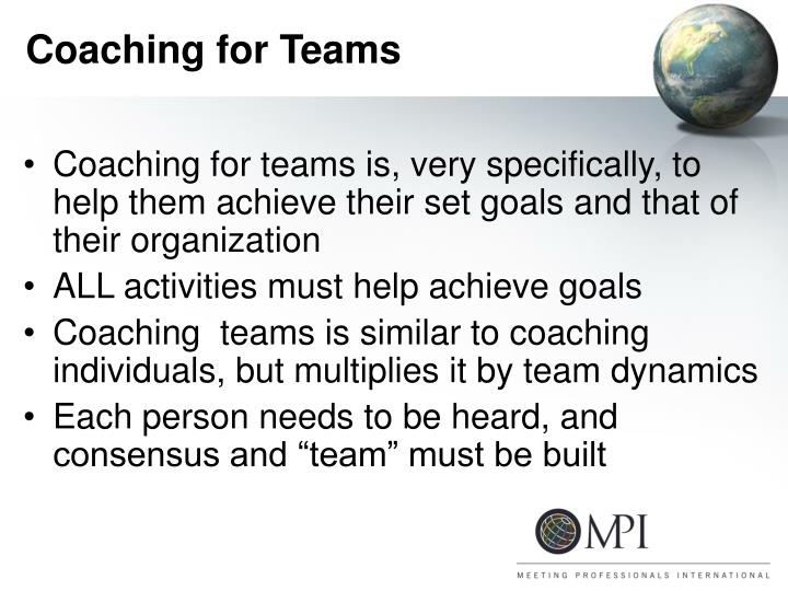 Coaching for Teams