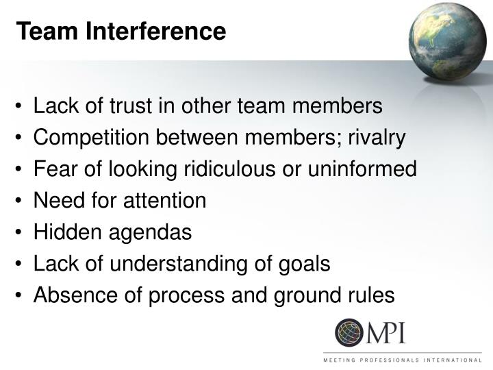Team Interference