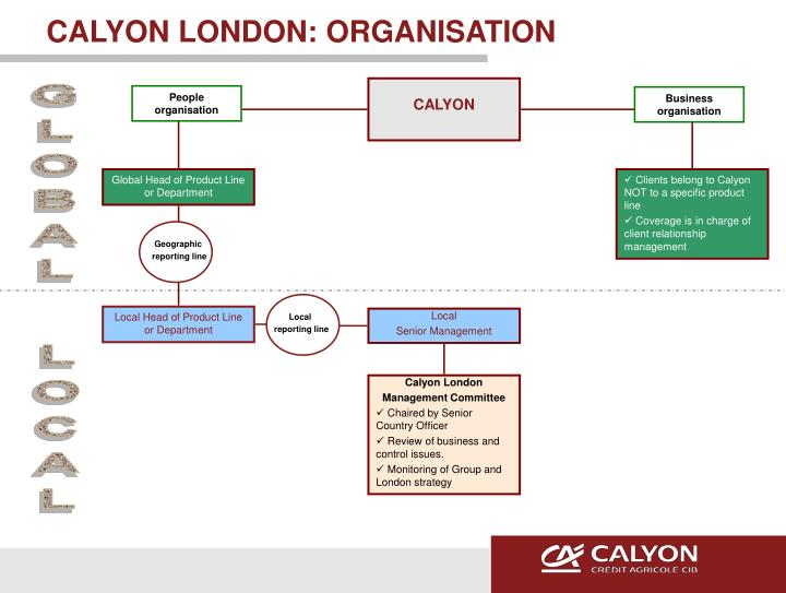Calyon london organisation