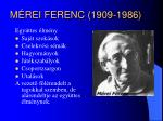 m rei ferenc 1909 1986