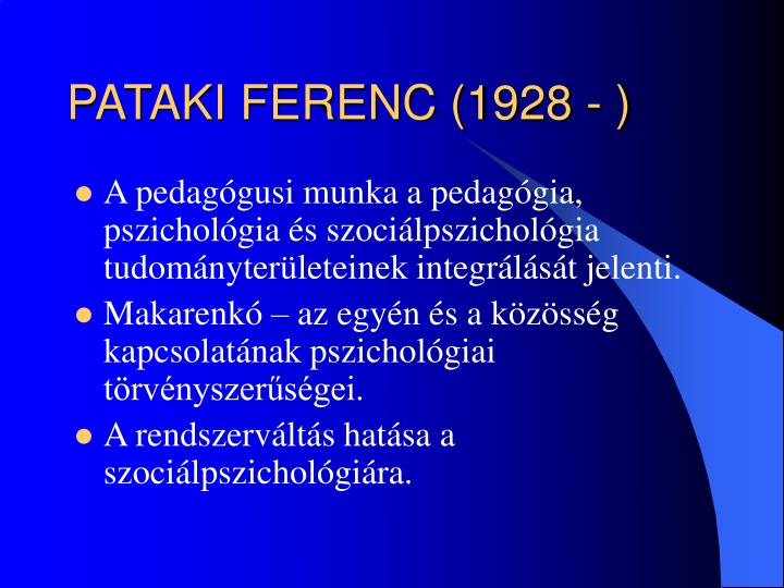 PATAKI FERENC (1928 - )