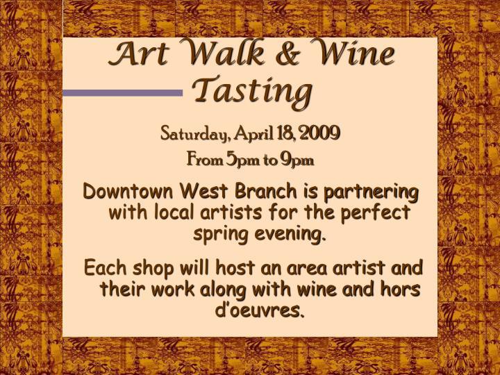 Art Walk & Wine Tasting