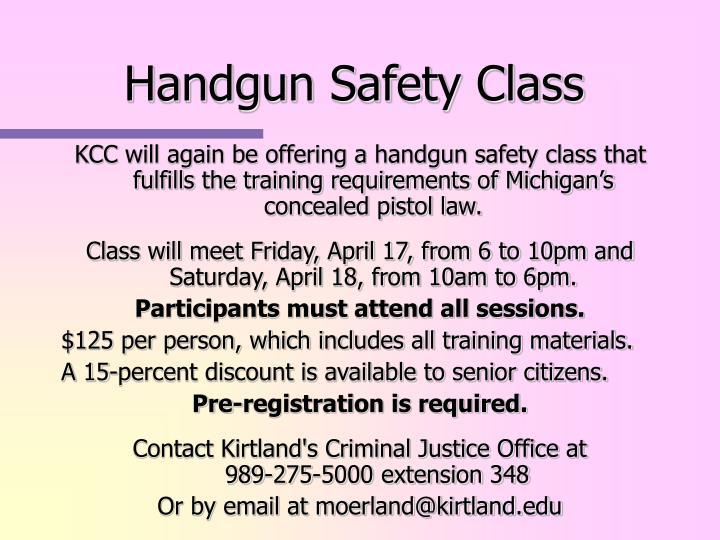 Handgun Safety Class
