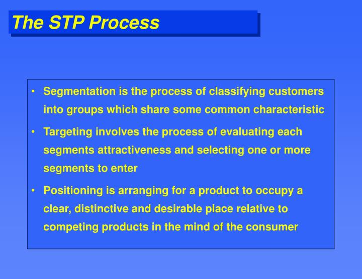 The stp process
