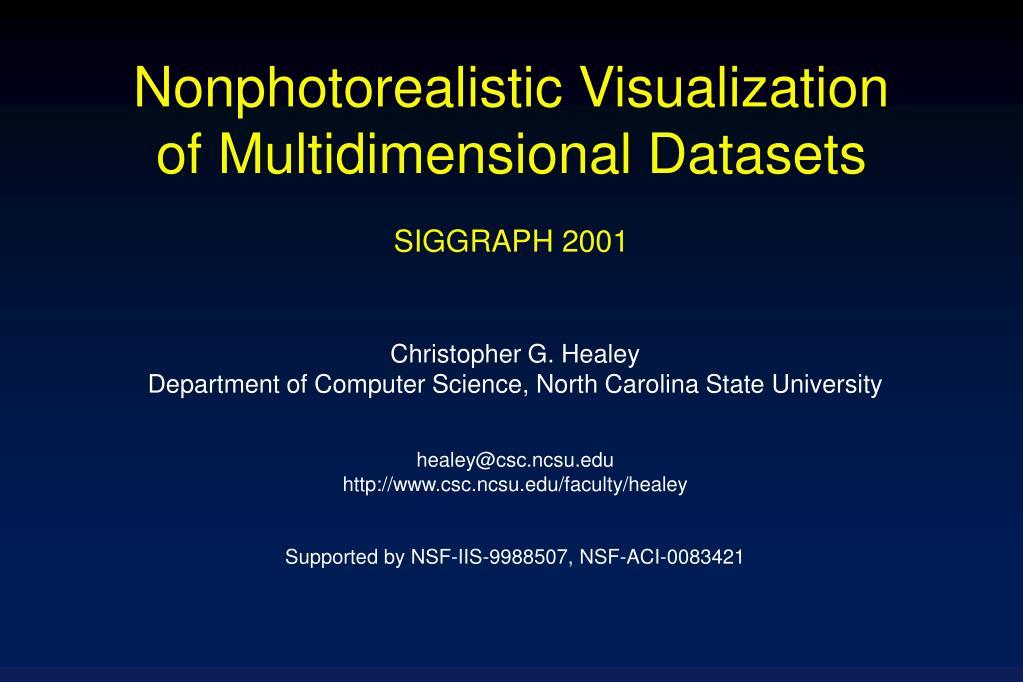 Nonphotorealistic Visualization