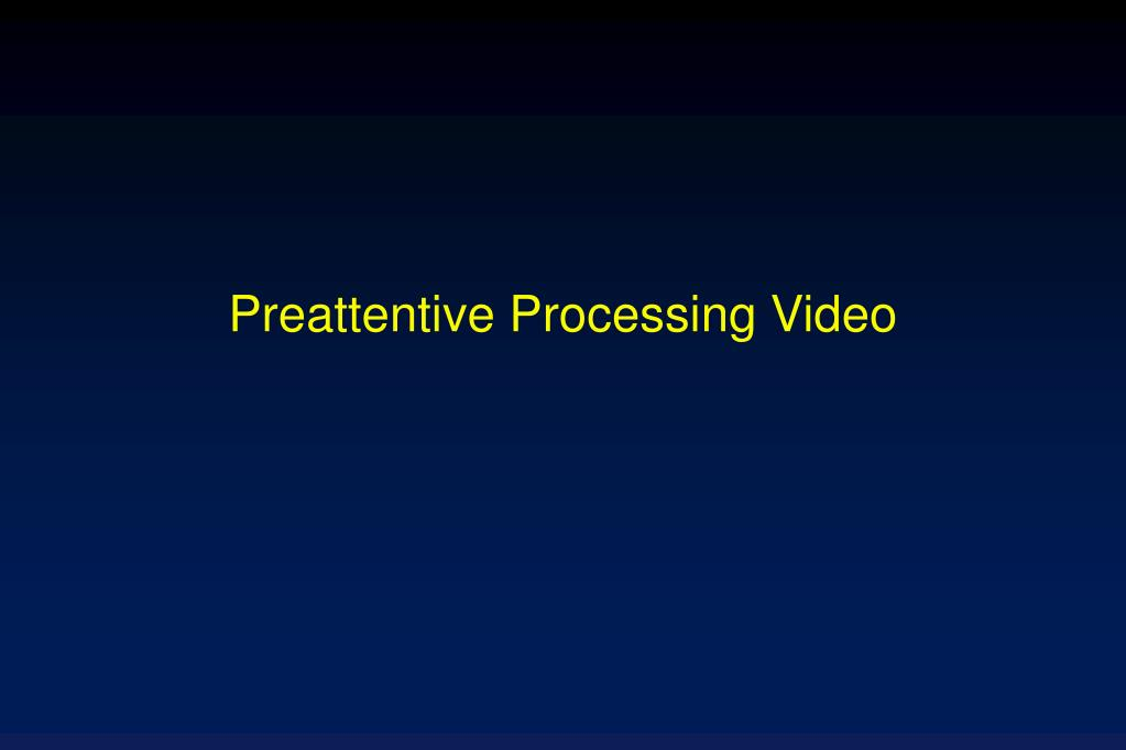 Preattentive Processing Video