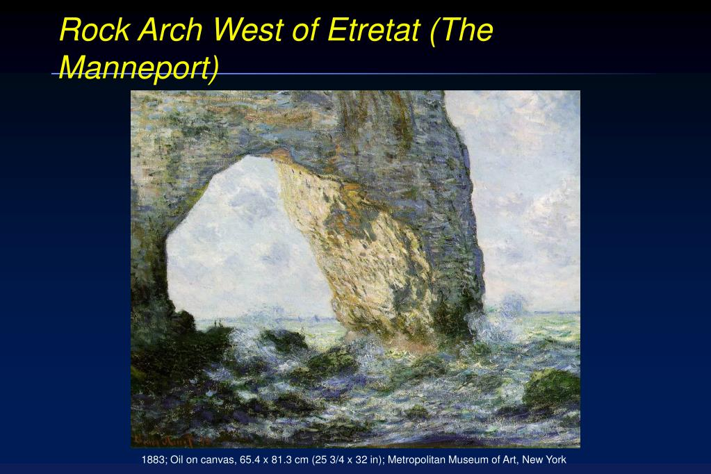 Rock Arch West of Etretat (The Manneport)
