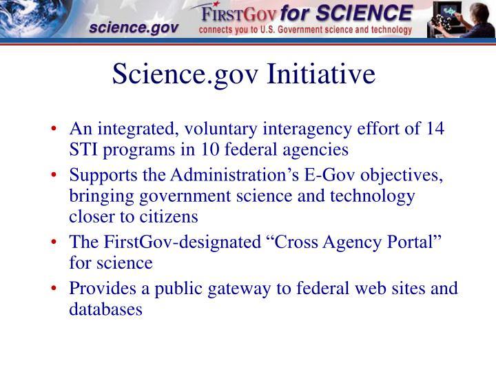 Science.gov Initiative