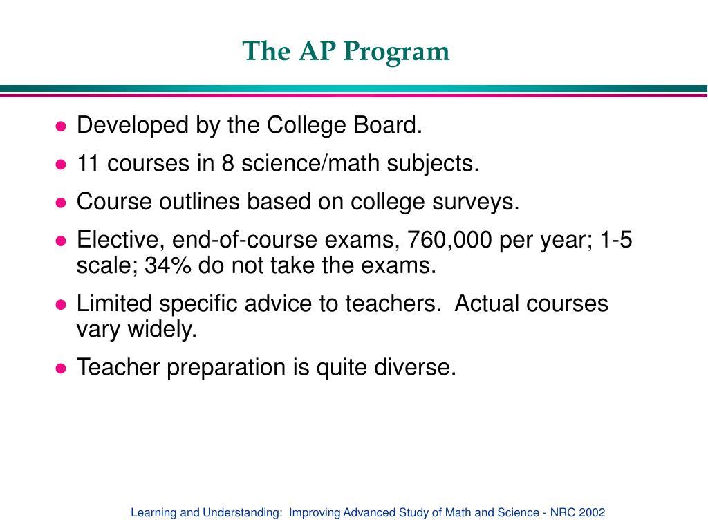 The AP Program