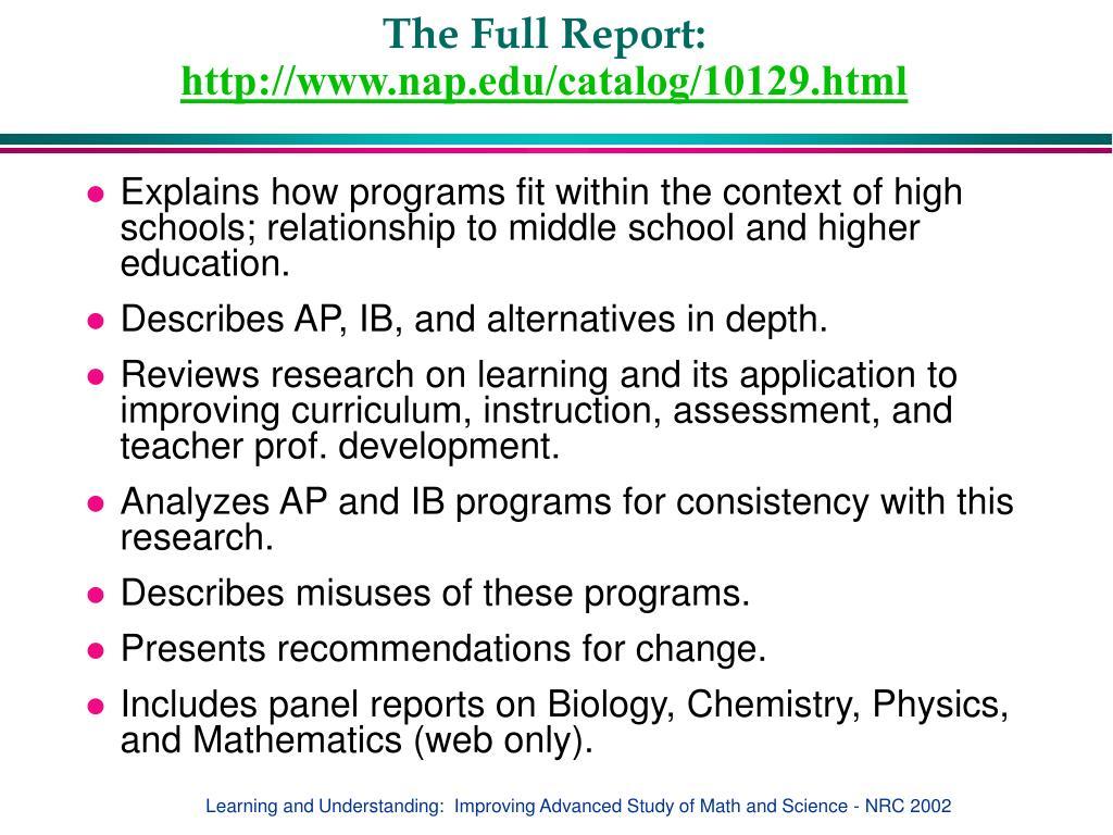 The Full Report: