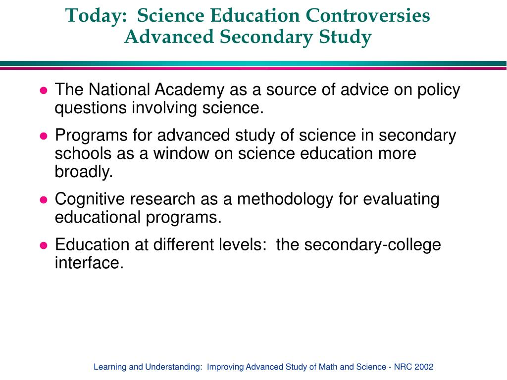 Today:  Science Education Controversies