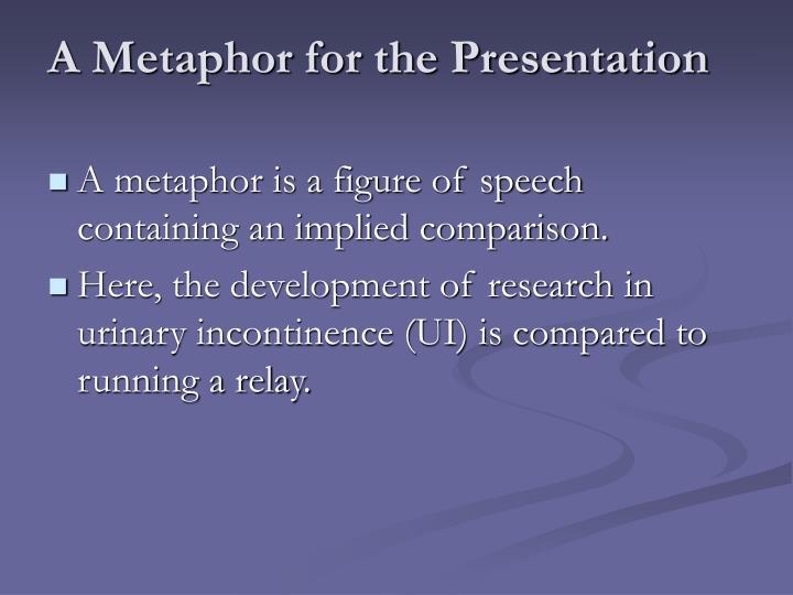 A Metaphor for the Presentation