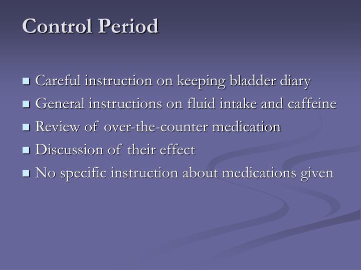 Control Period