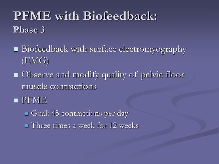 PFME with Biofeedback: