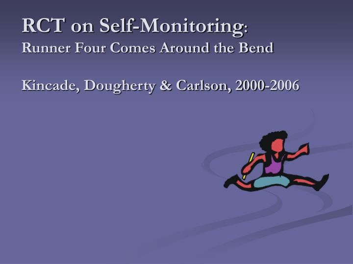 RCT on Self-Monitoring