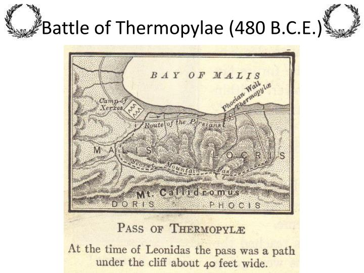 Battle of Thermopylae (480 B.C.E.)