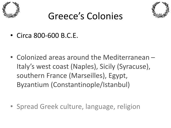 Greece's Colonies