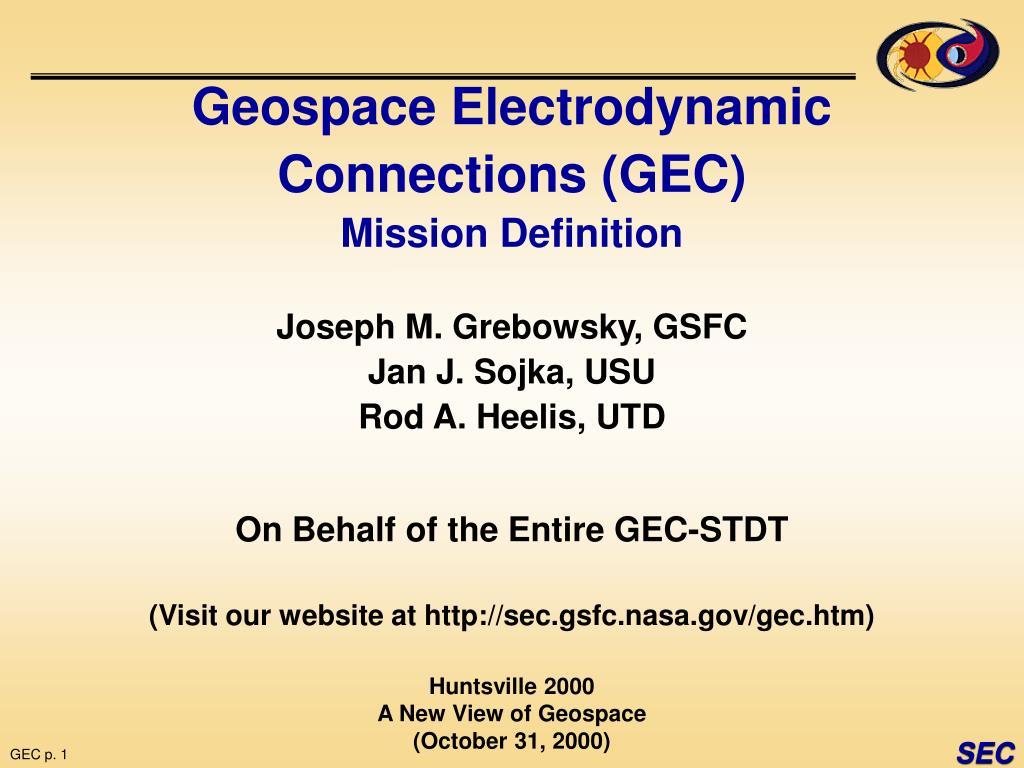 Geospace Electrodynamic