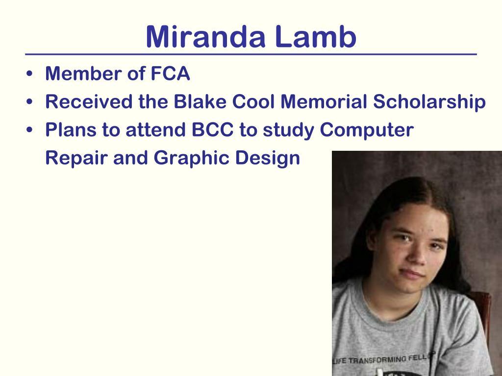 Miranda Lamb