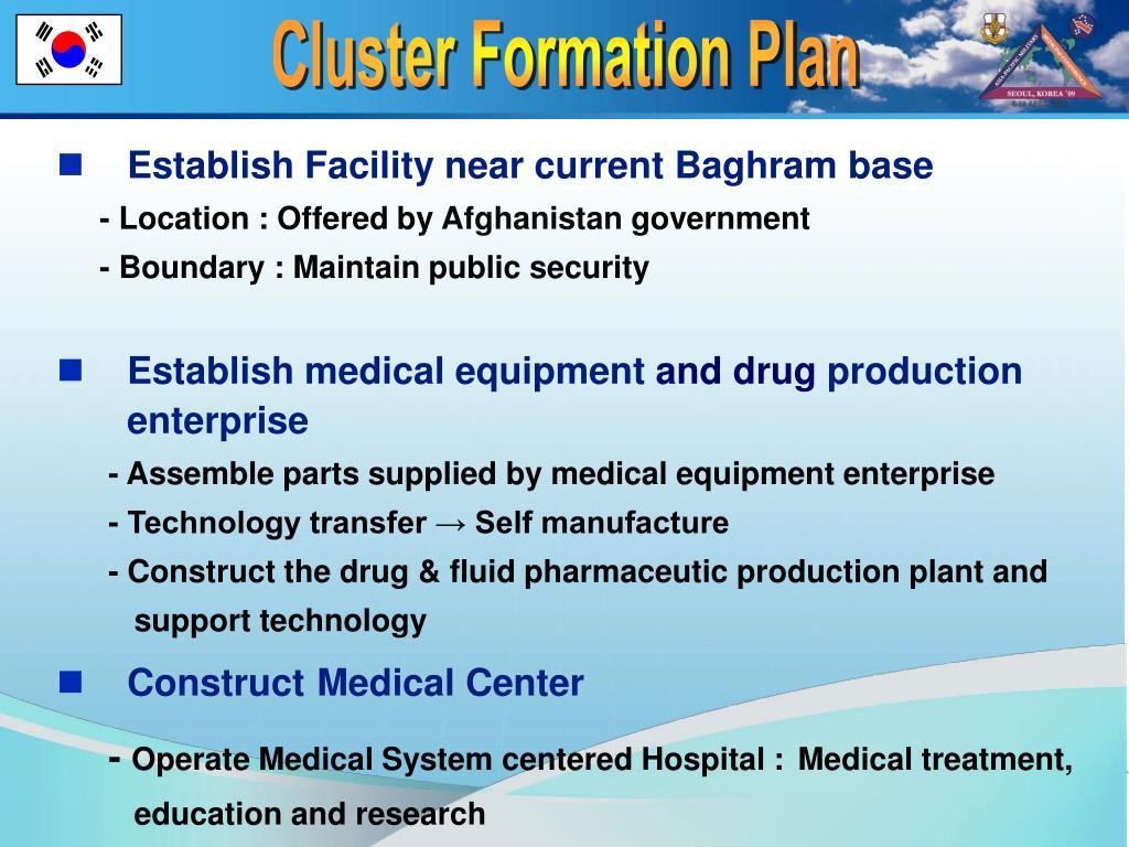 Cluster Formation Plan