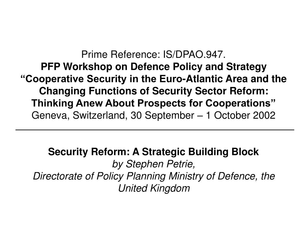 Prime Reference: IS/DPAO.947.