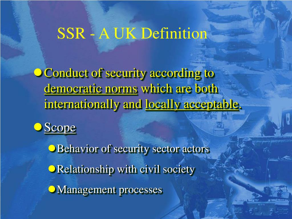 SSR - A UK Definition